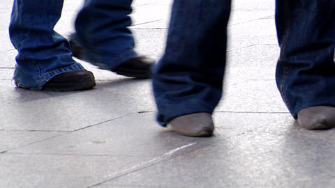 dancing feet 01 Stock Video Footage
