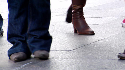 dancing feet 01 Footage