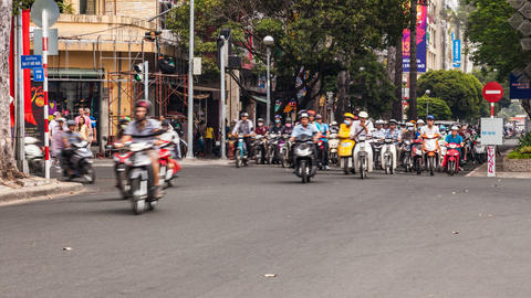 1080 - Timelapse of Traffic in Ho Chi Minh City Stock Video Footage