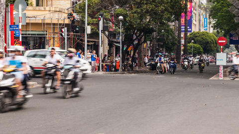 1080 - Timelapse of Traffic in Ho Chi Minh City Footage