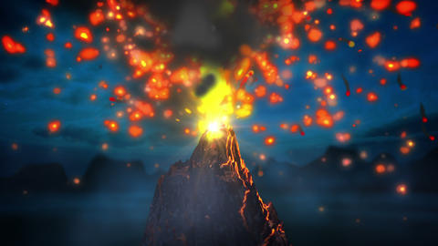 Volcano Loop stock footage
