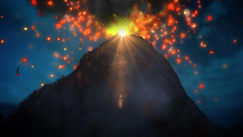 Volcano loop Stock Video Footage