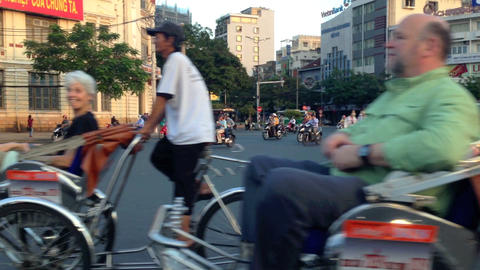 Panning in Traffic in Ho Chi Minh City Footage