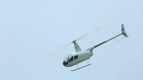 White helicopter Stock Video Footage