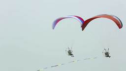 Powered paragliding Stock Video Footage