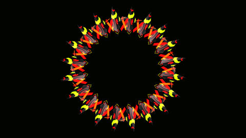 colorful tribal ring Stock Video Footage