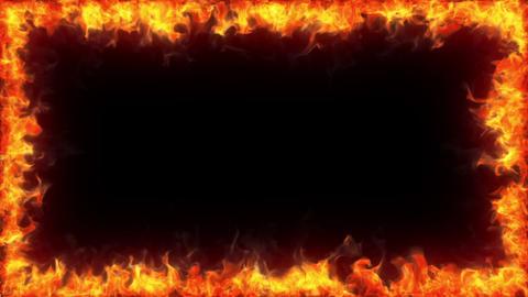 Fiery frame, alpha Stock Video Footage