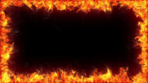 Fiery frame, alpha Stock Video Footage