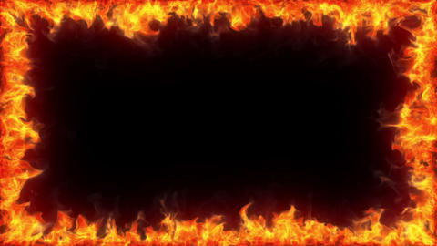 Fiery Frame, Alpha stock footage