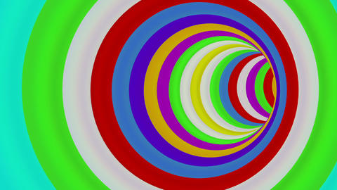 Colorful Long Round Tunnel - loop Animation
