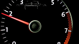car Tachometer Stock Video Footage