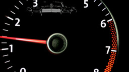 car Tachometer Footage