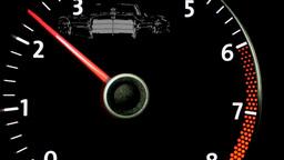 car Tachometer Stock Video Footage