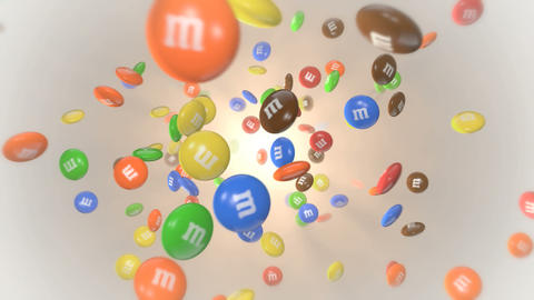 M and M Candies Stock Video Footage