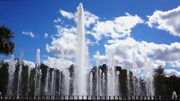 Slow Motion Fountain Pan Stock Video Footage