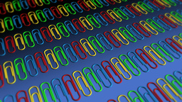 Paper Clips in Rows - Paperclips 05 (HD) Stock Video Footage