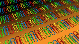 Paper Clips in Rows - Paperclips 07 (HD) Stock Video Footage