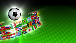 Soccer International Flags Sport Background 51 (HD) Stock Video Footage