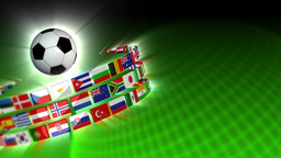 Soccer International Flags Sport Background 51 (HD) Animation