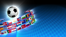 Soccer International Flags Sport Background 53 (HD) Animation