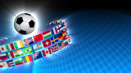 Soccer International Flags Sport Background 53 (HD) Stock Video Footage