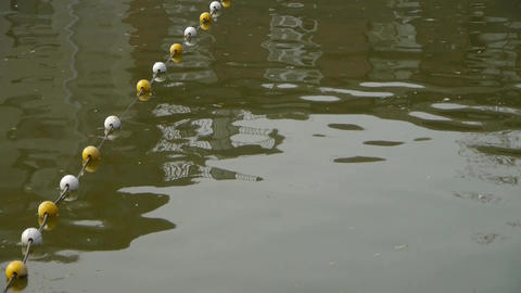floats on lake.Water surface.sea ocean Stock Video Footage
