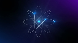Atom with degraded blue background Animation