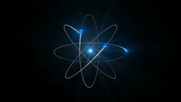Atom with black background Footage