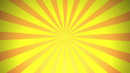 BG RETRO RADIAL 01 Yellow 24fps Animation