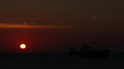 Sunset timelapse 02 Stock Video Footage