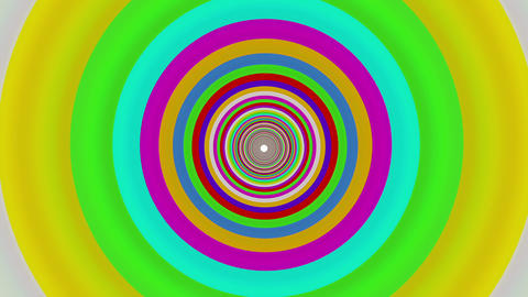 Colorful straight tunnel Animation