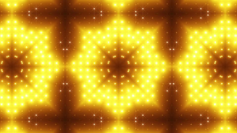 LED Kaleidoscope Wall 2 Bs 1 LRA HD Stock Video Footage