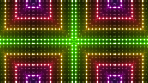 LED Kaleidoscope Wall 2 Eb 1 LRR HD Stock Video Footage