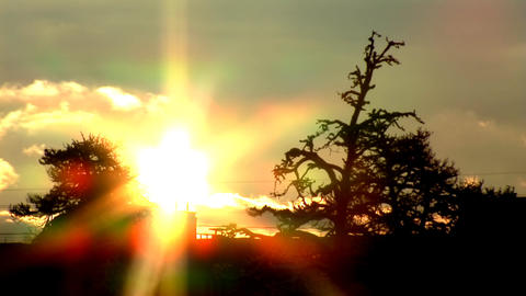 sunset in city Stock Video Footage
