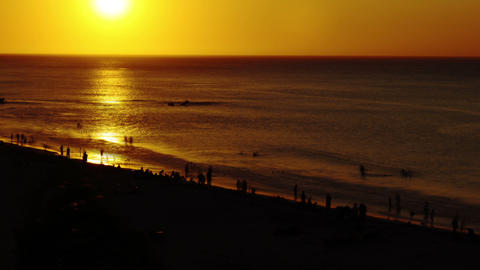Beach sunset timelapse 01 Stock Video Footage