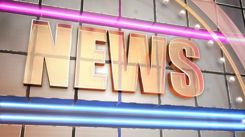News Title Intro stock footage