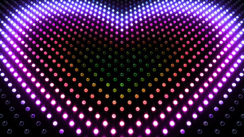 LED Wall 2 Heart G Ar HD Stock Video Footage