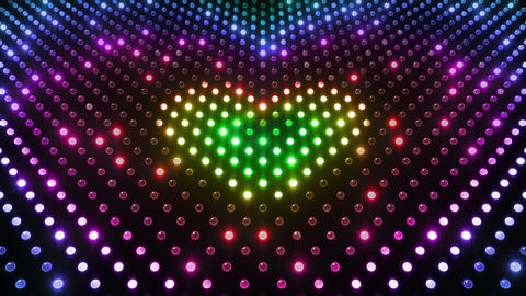 LED Wall 2 Heart G Dr HD Stock Video Footage