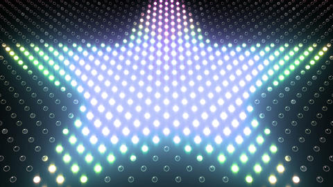 LED Wall 2 Star G Br HD Animation