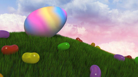 Easter Title Intro Stock Video Footage