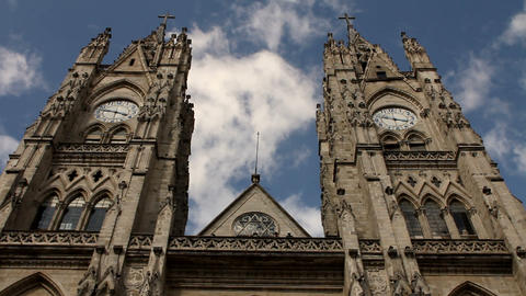 Basilica of the national vow, Quito Stock Video Footage