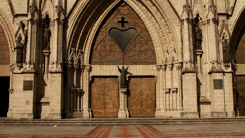 Main door entrance of the Basilica of the national Stock Video Footage