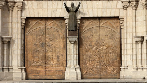 Main door entrance of the Basilica of the national Footage