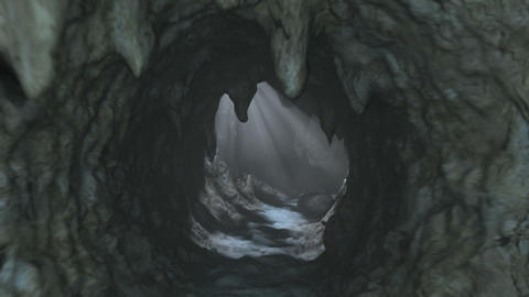 Deep Cave Journey Animation stock footage