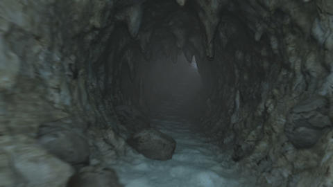 Deep Cave Journey Animation Stock Video Footage