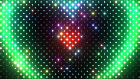 LED Wall 2 Heart B Ar HD Stock Video Footage