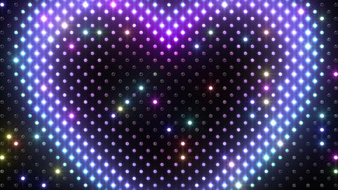 LED Wall 2 Heart B Ar HD Stock Video Footage