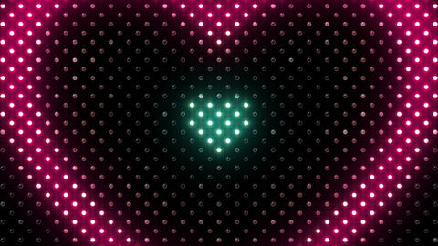 LED Wall 2 Heart B Cc HD Stock Video Footage