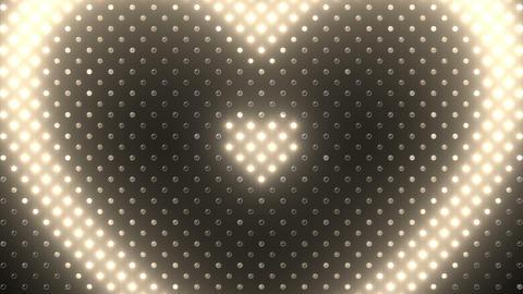 LED Wall 2 Heart B Cw HD Stock Video Footage