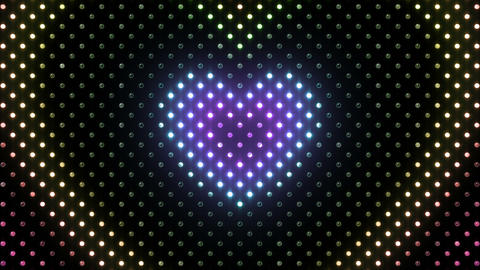 LED Wall 2 Heart B Dr HD Stock Video Footage